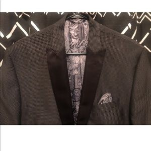 Other - Classic black and silver tuxedo jacket.